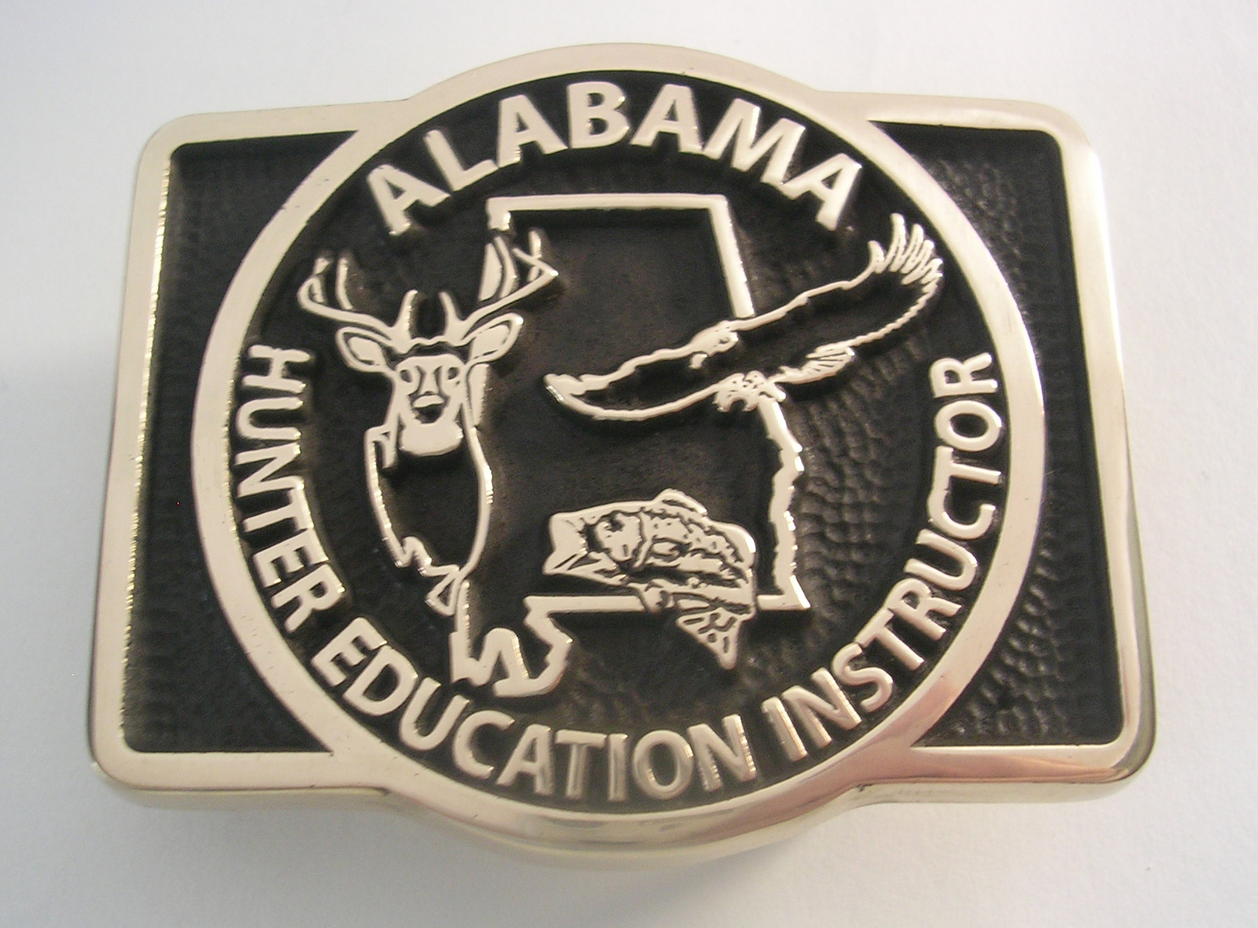 Alabama Hunter Education Instructor Belt Buckle