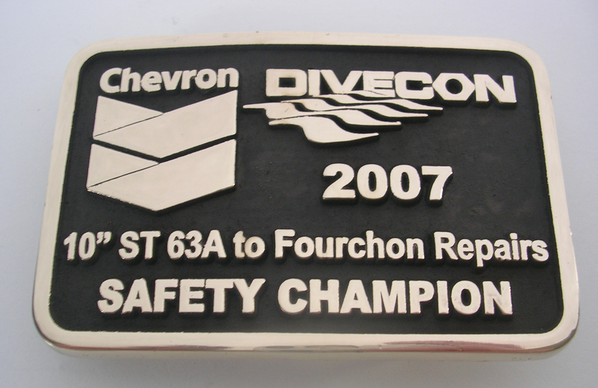 Chevron Divecon Belt Buckle
