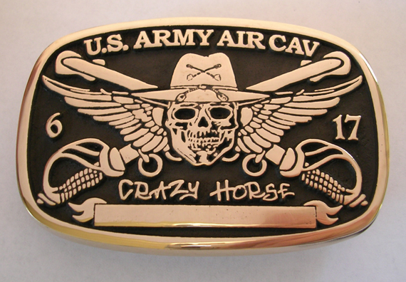 U.S. Army Air Cav Brass Buckle