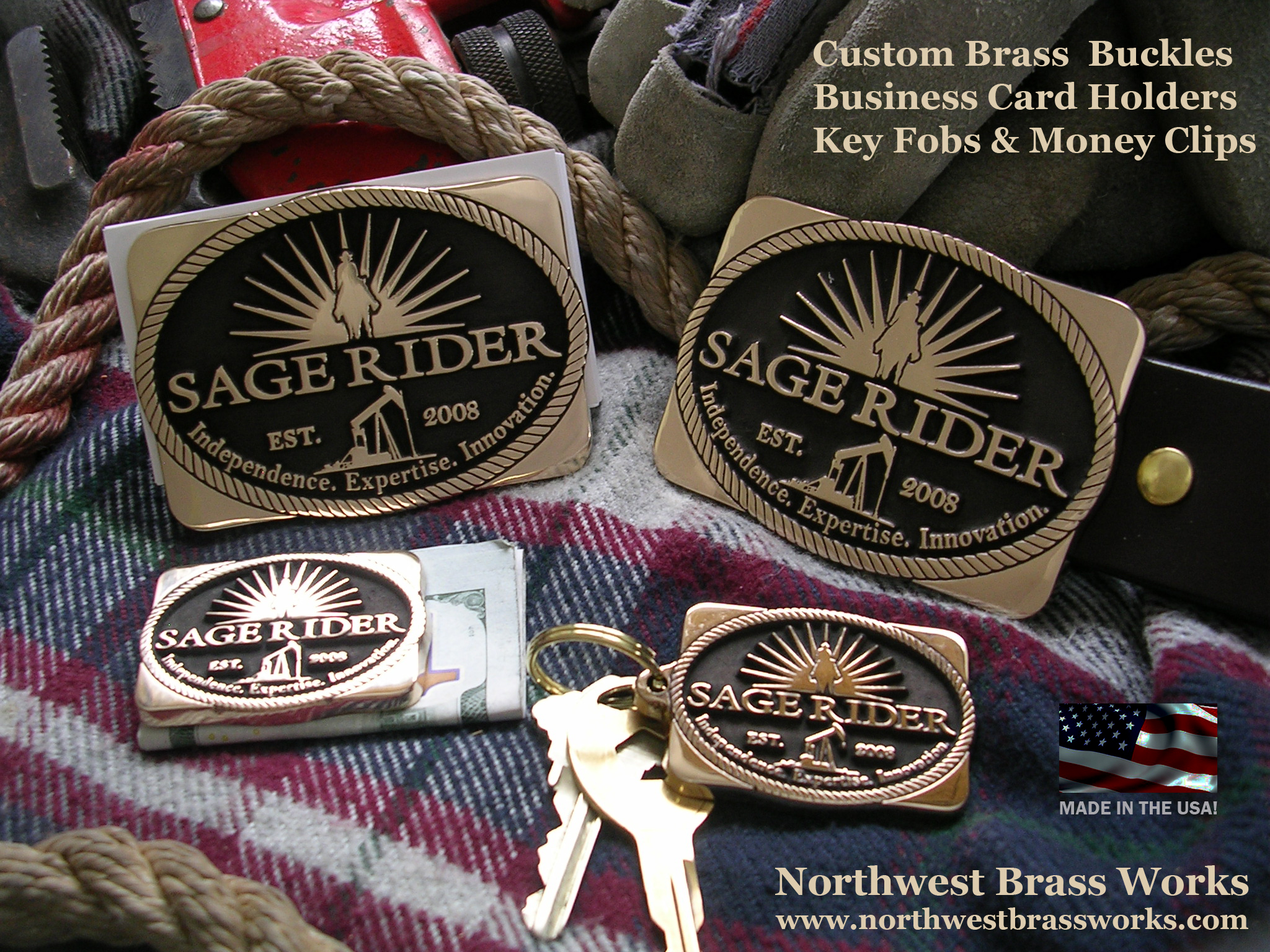 Northwest Brass Works Custom Brass Belt Buckles Business Card Holders key fobs money clips made in the USA Classic Buckles American Worker Tradesman Craftsman Welder Roughneck Military Construction Trucker Oilfield Farmer Cowboy Deckhand Painter Miner Equipment Operator Laborer Worker Mechanic Safety Award Incentive Project Job Biker Army Navy Air Force Marines second 2nd Amendment