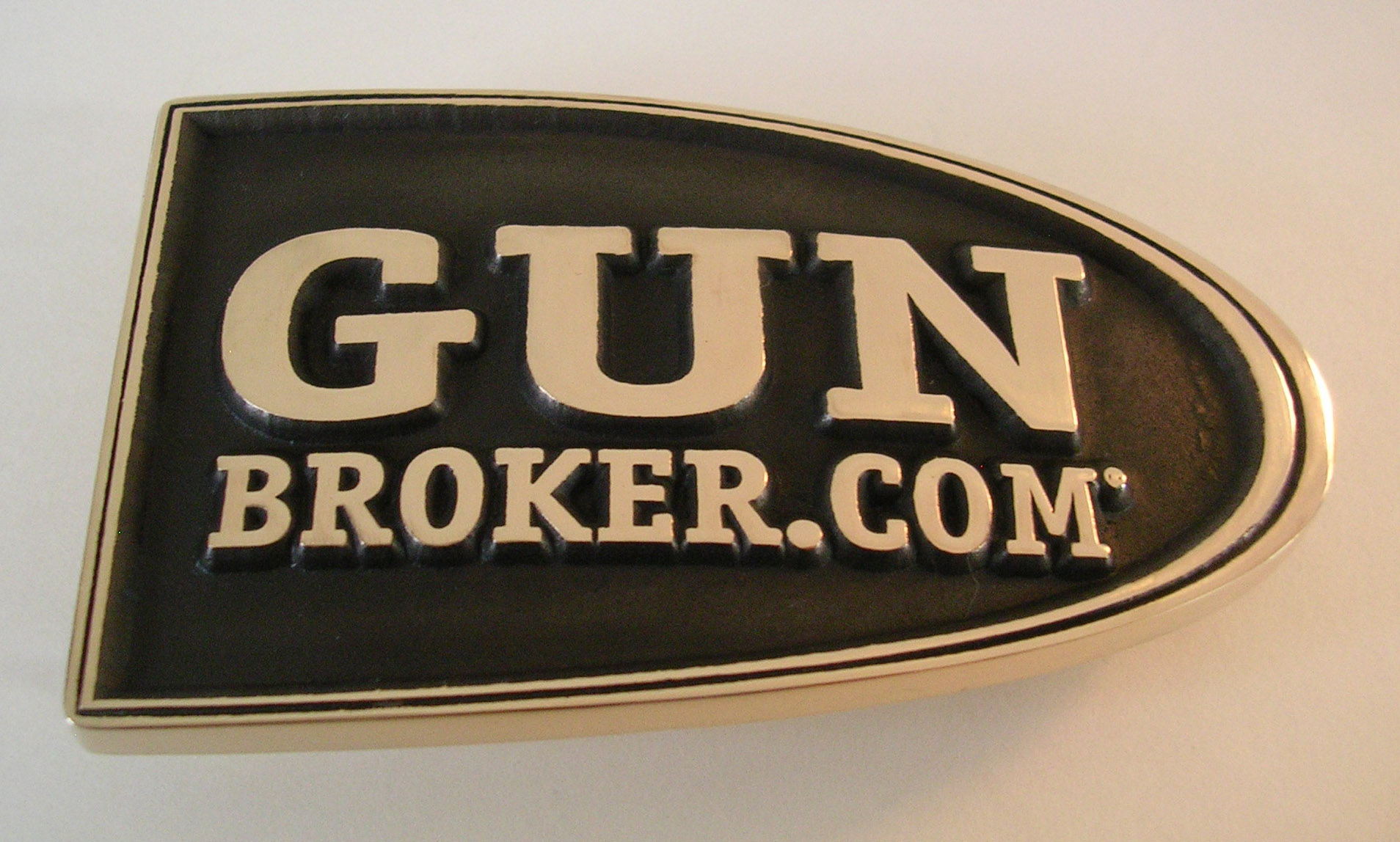 Gun Broker.com Belt Buckle