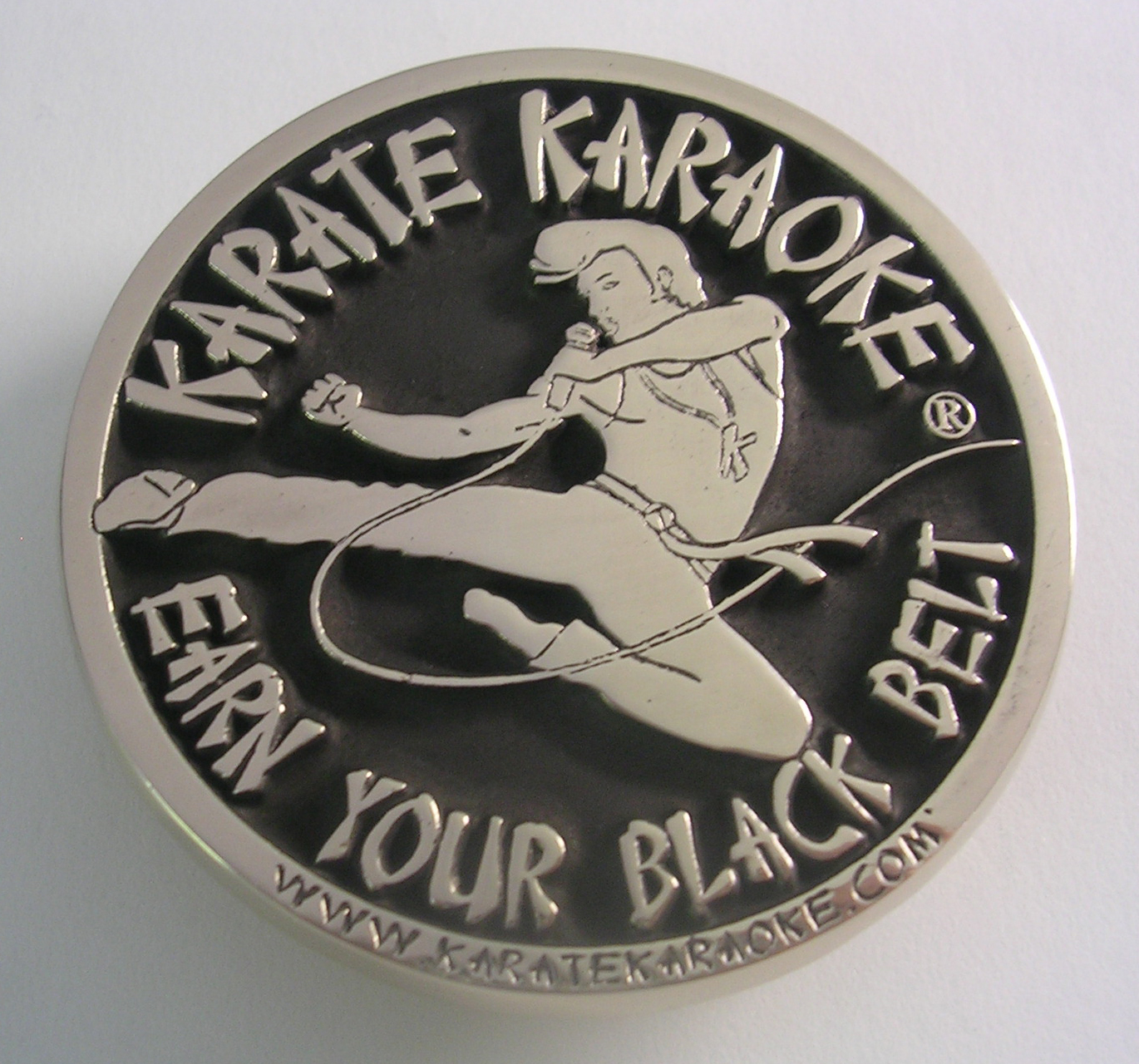 Karate Karaoke Belt Buckle