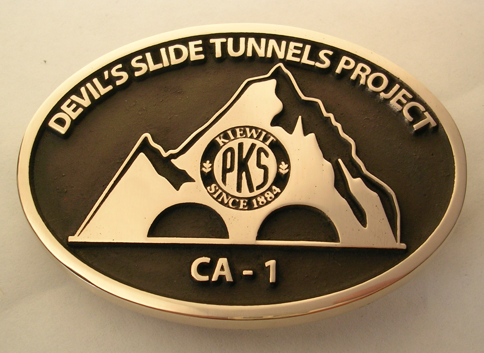 PKS Kiewit California Belt Buckle