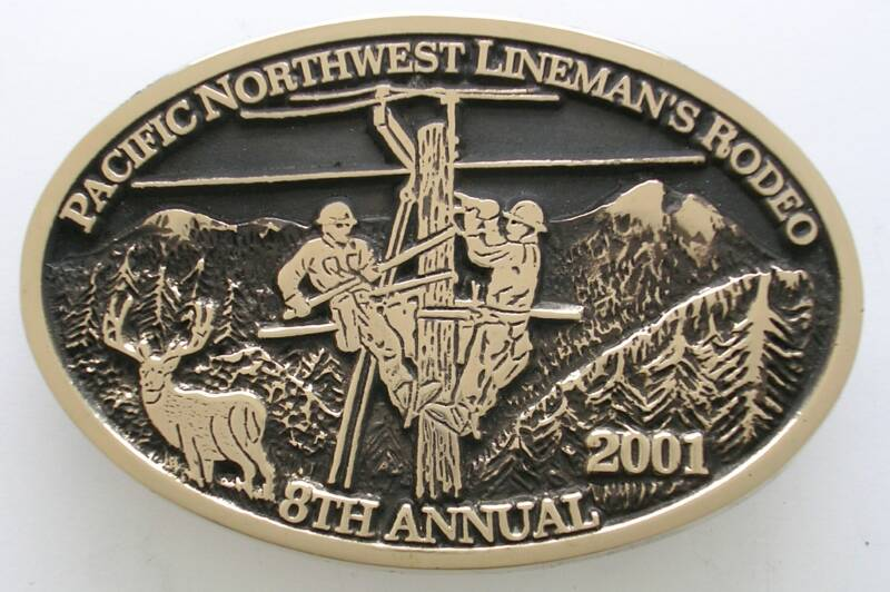 Pacific Northwest Lineman's Rodeo buckle