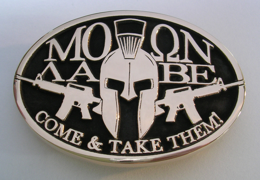 Molon Labe Take it Leonidas Spartan 300 Special Forcenciation Meaning Tattoo e Belt Buckle by Northwest Brass Works Solid Brass Made in USA Com Decal Shirt Sticker AR Guns