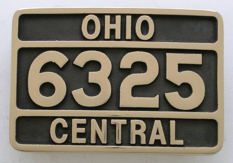 Ohio Central Railroad Belt Buckle
