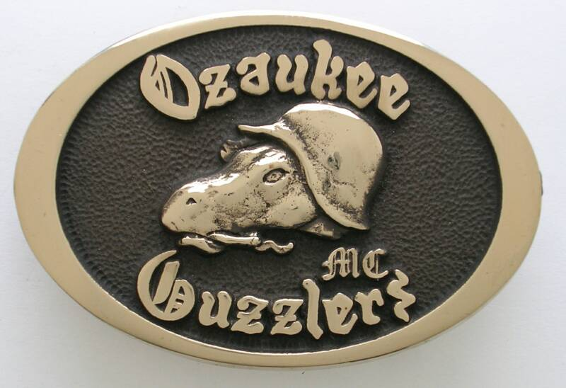 Ozaukee Guzzlers MC Buckle