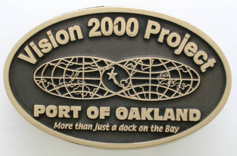 Port of Oakland Solid Brass Buckle