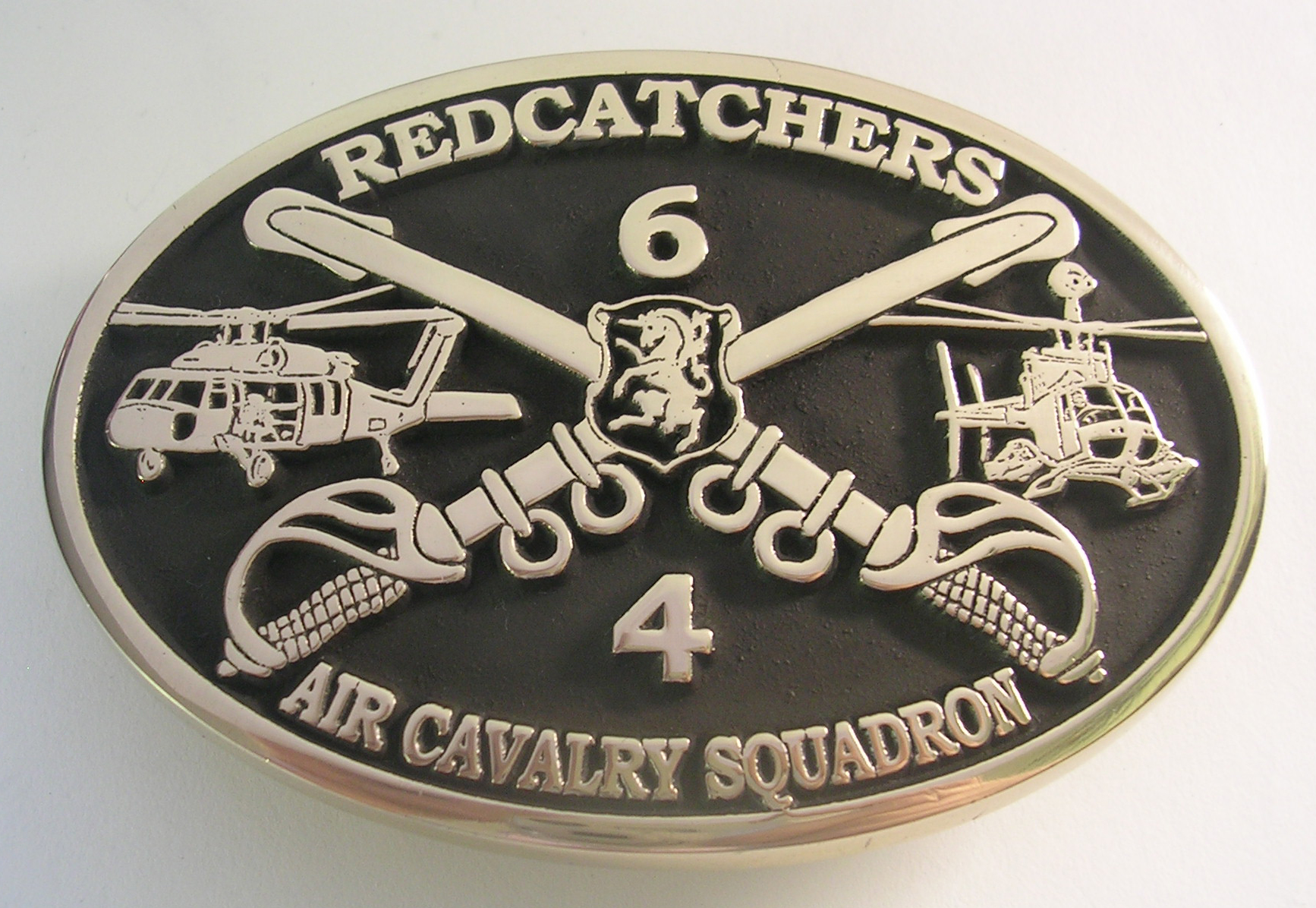 RedCatchers Air Cavalry Squadron Belt Buckle