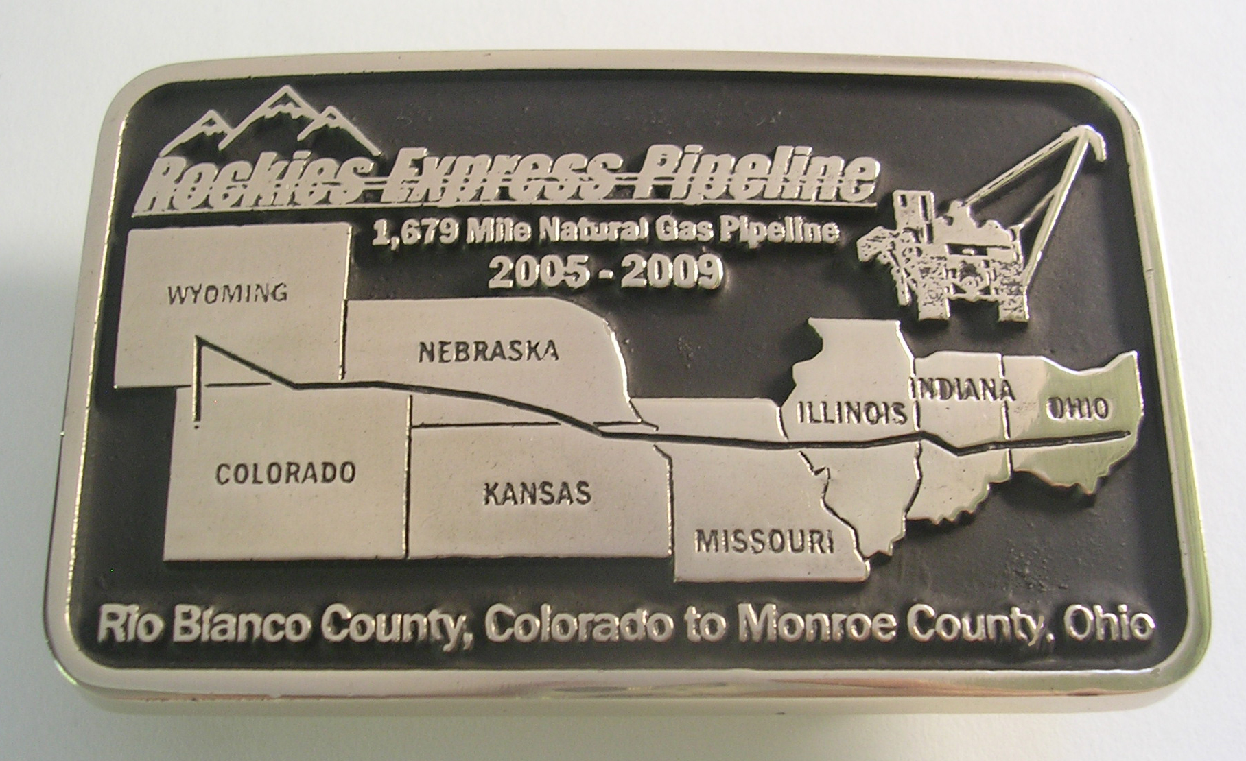 Rokies Express Pipeline Belt Buckle
