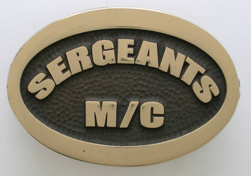 Sergeants MC Belt Buckle