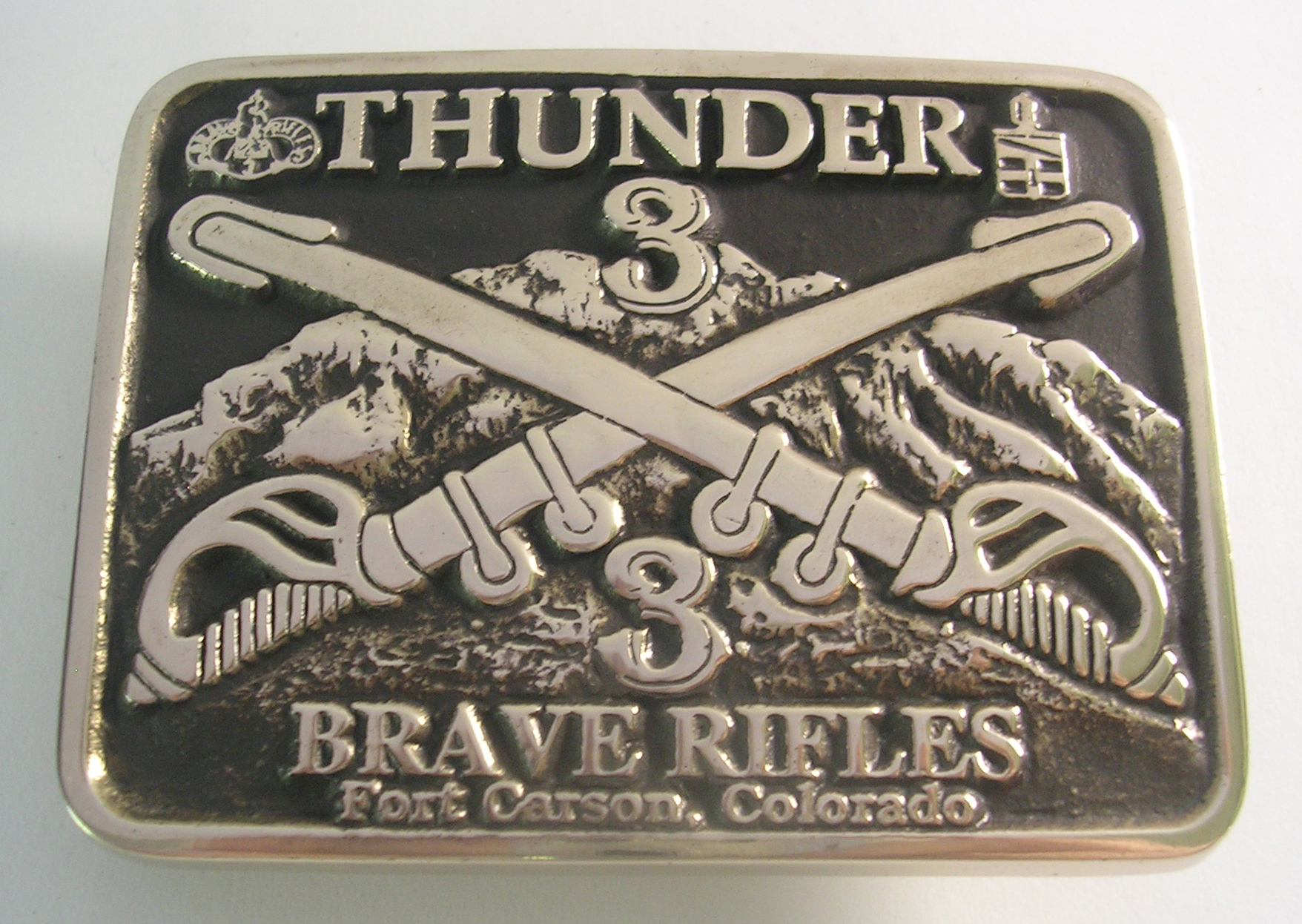 Brave Rifles Custom Brass Belt Buckles