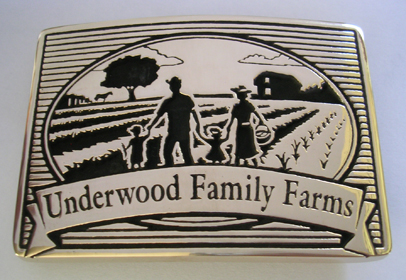 Underwood Family Farms Belt Buckle
