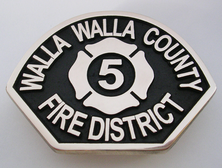Walla Walla County Fire Buckle