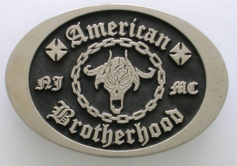American Motorcycle Club Brass Belt Buckle