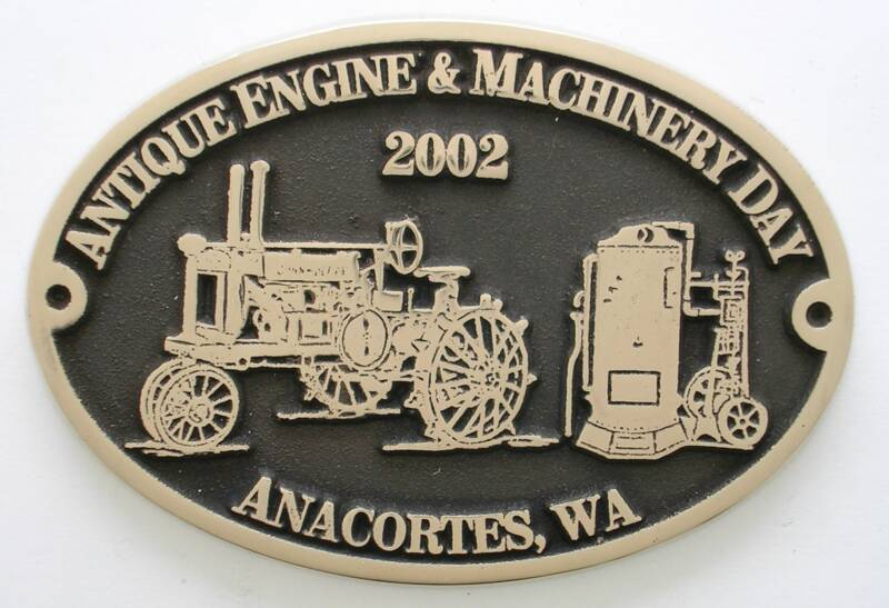 Anacortes, WA Antique Engine Brass Belt Buckle