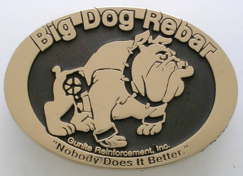 Custom Belt Buckle Big Dog Rebar