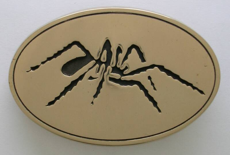 Black Widow Spider MC Buckle