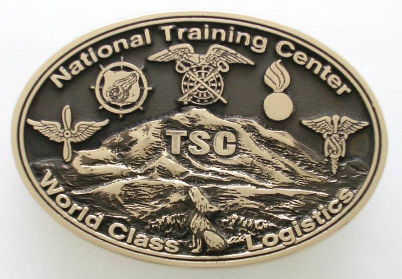 National Training Center Custom Military Buckle