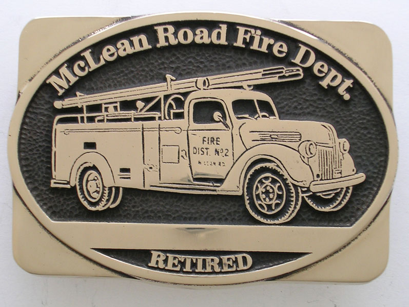 Custom Fire Dept Belt Buckle