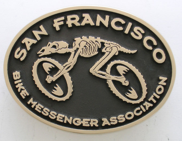 San Francisco ZBike Messenger Belt Buckle