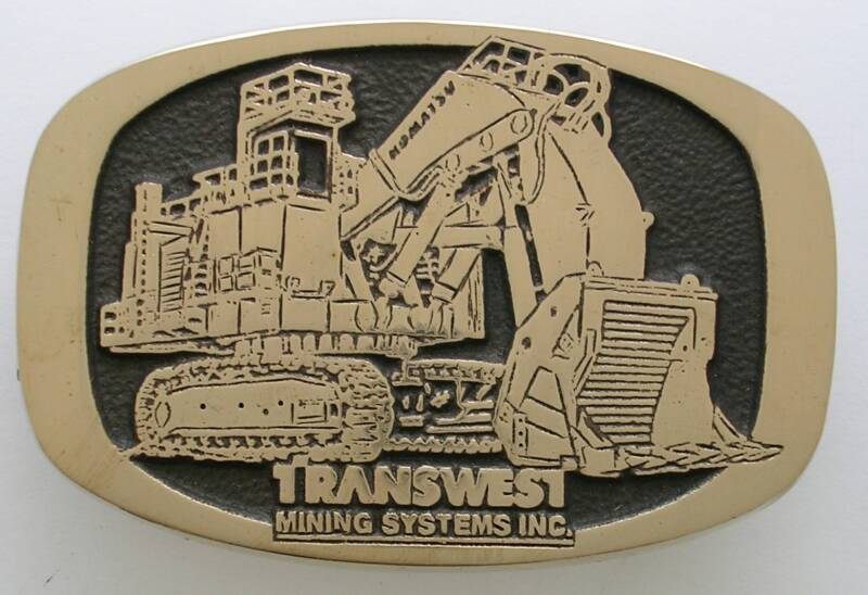 Custom Transwest Mining Systems Buckle