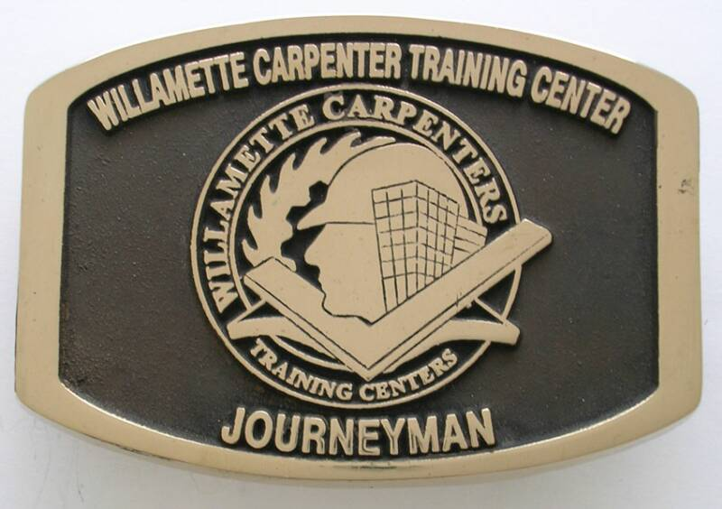 Willamette Carpenter Training Center Journeyman Buckle