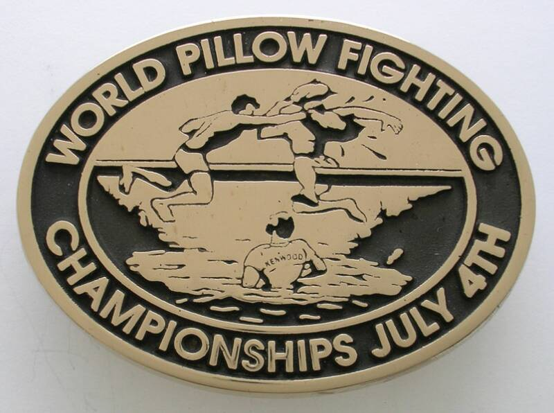 World Pillow Fighting Championship Buckle