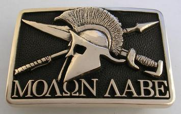 Molon Labe Spartan 300 Shield Buckle